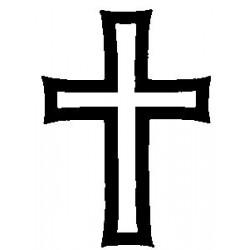 Гумен печат на дървено блокче кръст -  Art stamps - Cross