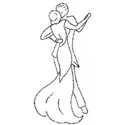 Гумен печат на дървено блокче  - Art Stamps - RH Dance Romance