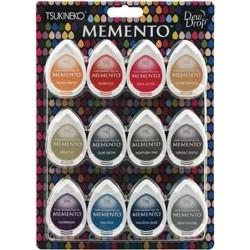 Комплект от 12 мини мастила - Memento - Memento 4 Piece Set Snow Cones