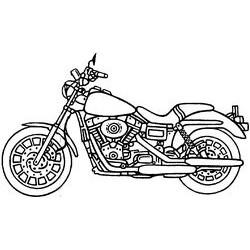 Гумен печат на дървено блокче мотор -  Art stamps - Motorcycle