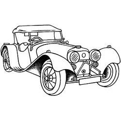 Гумен печат на дървено блокче винтидж кола - Art stamps - Vintage Car