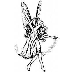 Гумен печат на дървено блокче фея -  Art stamps - Fairy 1