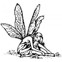 Гумен печат на дървено блокче фея -  Art stamps - Fairy