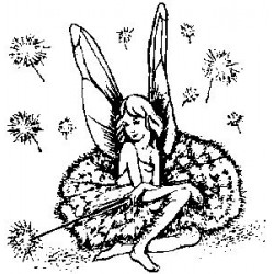 Гумен печат на дървено блокче Фея - Art stamps - Fairy And Stardust