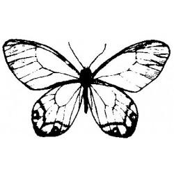 Гумен печат на дървено блокче пеперуда -  Art stamps - Butterfly No.2