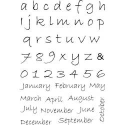 Силиконови печати азбука и месеци - A6 - Alphabet/Months
