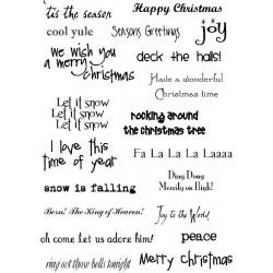 Силиконов печат Коледни надписи -  A6 Many Greetings