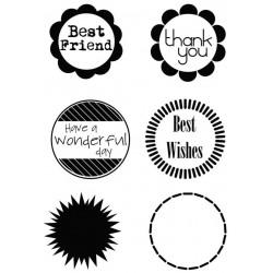 Силиконови печати -  A6 Best Friend Frames and Greeting Clear Stamp