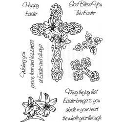Силиконов печат Великденски - Art Stamps - Easter Crosses
