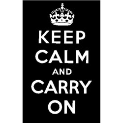 Силиконов печат надпис -  Keep Calm and Carry On