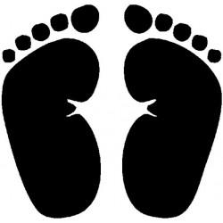 Силиконов печат отпечатъци от крачета -  Footprints