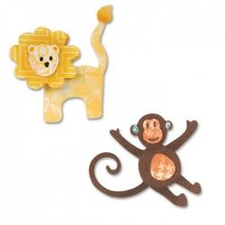 Универсални шаблони за рязане и релеф - Sizzix - Thinlits Die Set 8PK - Lion & Monkey