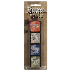 Комплект от 4 бр. мини дистрес мастила - Tim Holtz  - Distress Mini Ink Pads Kit 5