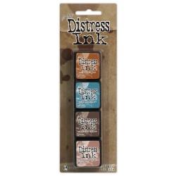 Комплект мини дистрес мастила - Tim Holtz - Distress Mini Ink Pads Kit 6