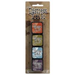 Комплект от 4 бр. мини дистрес мастила - Tim Holtz - Distress Mini Kit 8