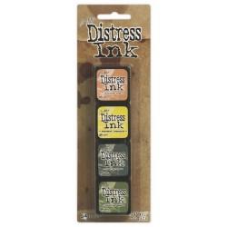 Комплект от 4бр. мини дистрес мастила - Tim Holtz  - Distress Mini Ink Kit 10