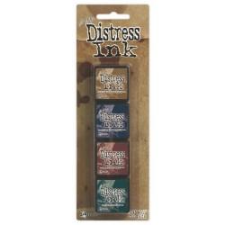 Комплект от 4бр. мини дистрес мастила - Tim Holtz  - Distress Mini Ink Kit 12