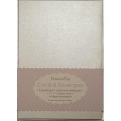 """Комплект основи за картички и пликове в перлено - Dovecraft - Pearlescent 5""""x7"""" Cards & Envelopes , with pearlescent envelope"""