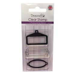 Силиконови печати - етикетчета - Dovecraft - Clear Stamp Frame Trip