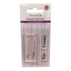 Силиконови печати - Dovecraft - Clear Stamp Gift Tag