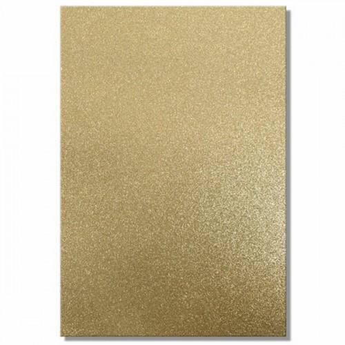 Качествен брокатен картон - златно - A4 - Trimcraft - A4 Glitter Card - Comet (Gold) - 220гр.