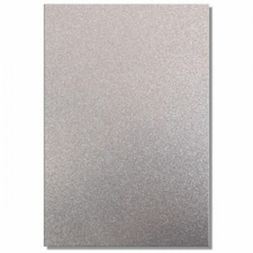 Качествен брокатен картон - сребърно - А4 - Trimcraft - A4 Glitter Card - Dazzle (Silver) - 220гр.
