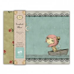Скрапбук албум - Santoro - Mirabelle Fabric Scrapbook Album