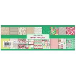 """Комплект дизайнерски картони - 9 двустранни листа, 18 дизайна  - 12"""" х 12"""" - 190гр. - Happy Holidays"""