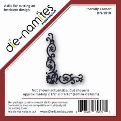 Универсален шаблон за изрязване и релеф -Die namites - Scrolly Corner