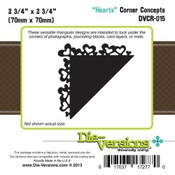 Универсална щанца за рязане - Die Versions - Corner Concepts - Hearts