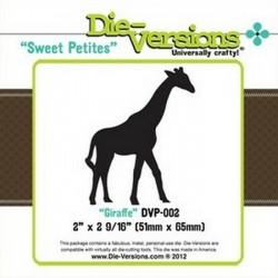 Универсален шаблон за изрязване и релеф - Die version - Sweet Petites - Giraffe
