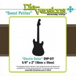 Универсален шаблон за изрязване и релеф - Die Versions -  Sweet Petites Electric Guitar
