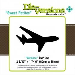 Универсален шаблон за изрязване и релеф - Die Versions - Sweet Petites - Airplane