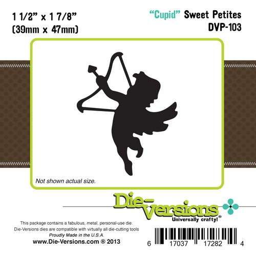 Универсален шаблон за изрязване и релеф - Die Versions - Sweet Petites - Cupid