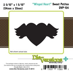 Универсален шаблон за изрязване и релеф - Die Versions - Sweet Petites - Winged Heart