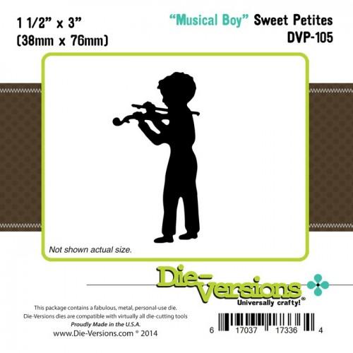 Универсален шаблон за изрязване и релеф - Die Versions - Sweet Petites - Musical Boy