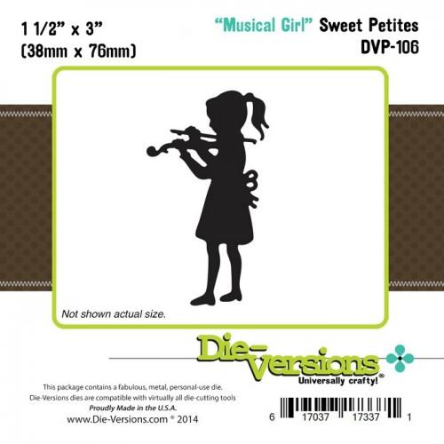 Универсален шаблон за изрязване и релеф - Die Versions - Sweet Petites - Musical Girl