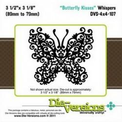 Универсален шаблон за изрязване и релеф - Die-Versions -  Whispers - Butterfly Kisses