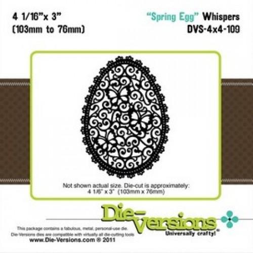Универсални шаблони за рязане Великденско яйце  - Die Versions - Whispers - Spring Egg