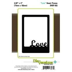 Универсален шаблон за изрязване и релеф - Die-Versions - Sweet Frames Love