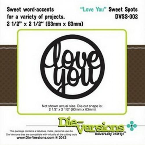 Универсален шаблон за изрязване и релеф - Die Versions - Sweet Spots - Love You