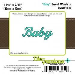 Универсална щанца за рязане - Die Versions - Sweet Wordlets - Baby
