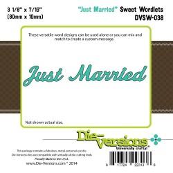 Универсален шаблон за изрязване и релеф - Die-Versions -  Sweet Wordlets - Just Married