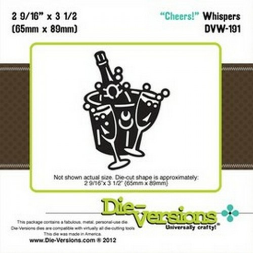 Универсална щанца за изрязване шампанско с 2 чаши - Die Versions - Whispers - Cheers!