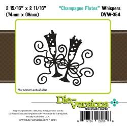 Универсален шаблон за изрязване и релеф чаши с шампанско - Die-Versions -  Whispers - Champagne Flutes