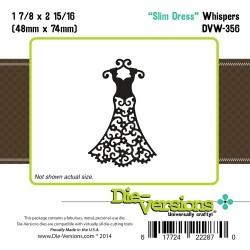 Универсален шаблон за изрязване и релеф - Die-Versions -  Whispers - Slim Dress