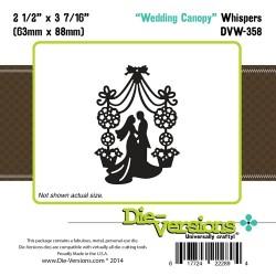 Универсален шаблон за изрязване и релеф - Die-Versions -  Whispers - Wedding Canopy