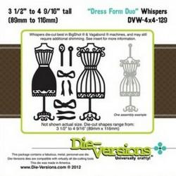 Универсален шаблон за изрязване и релеф - Die-Versions -  Whispers - Dress Form Duo