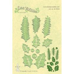Универсални шаблони за рязане и релеф елхови клонки - Lea'bilities - Holly Leaf Pine Branches