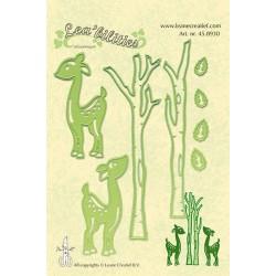 Универсални шаблони за рязане и релеф еленчета и брези - Lea'bilities - Deer & Trees